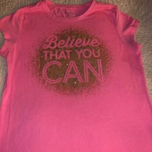 Believe That You Can Pink T-shirt Size 16 Girls